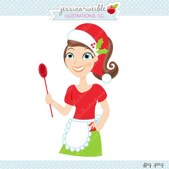 Christmas Baker Character Illustration, Cartoon Illustration.