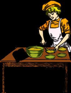 Woman Baker Clipart.