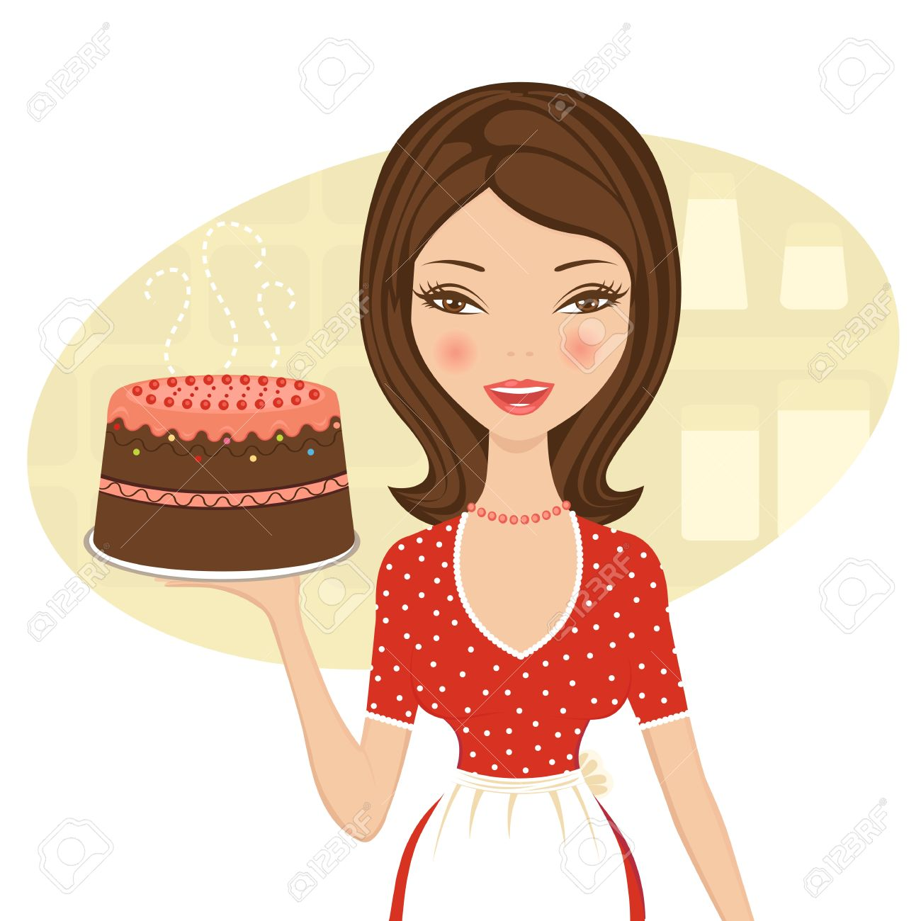 Clipart Woman Baker.