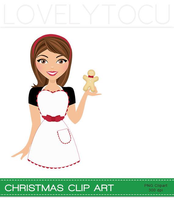 Christmas baking gingerbread cookies baker girl by Lovelytocu.