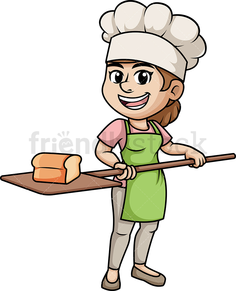 Woman Baking Bread.