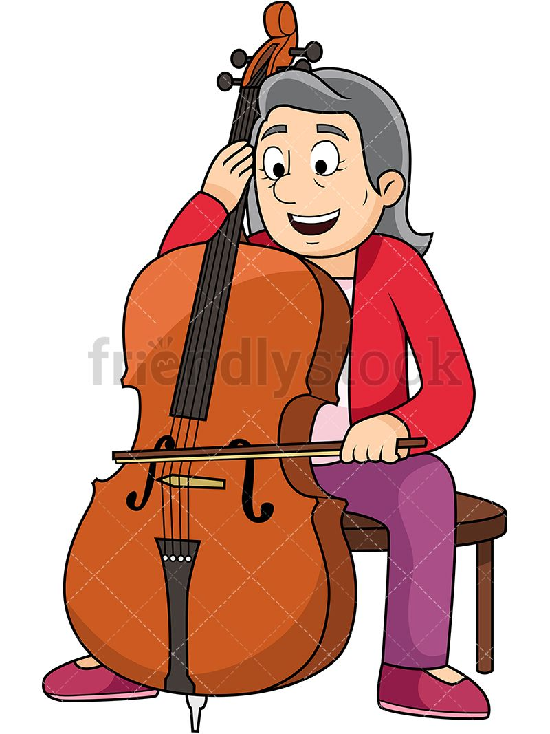 Old Woman Playing The Cello in 2019.