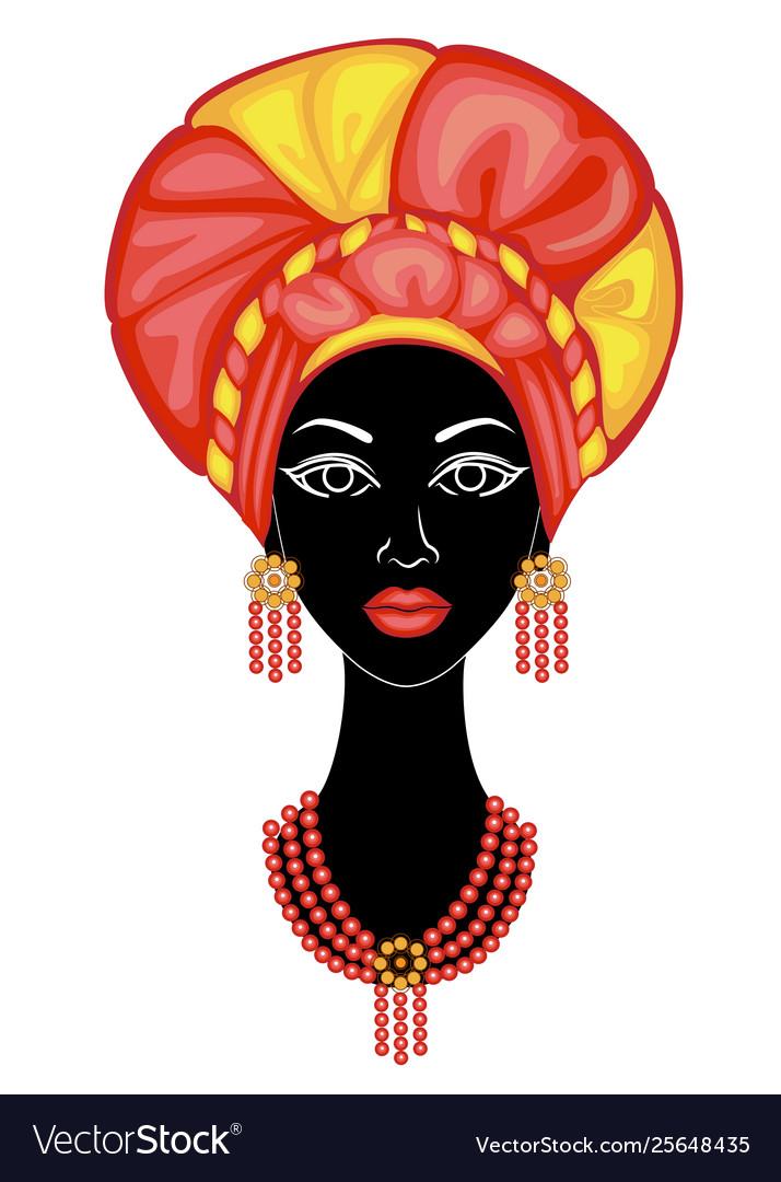 The head a nice lady on head an african.