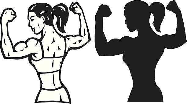 Muscle Woman Clipart.