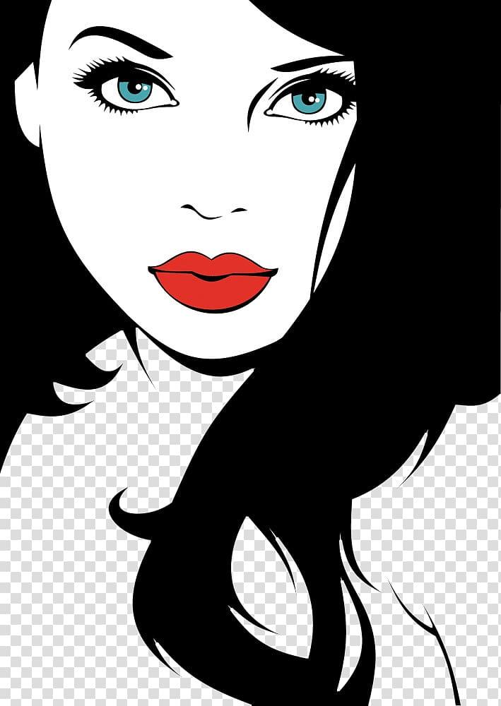 Eye Girl Woman, Big eyes girl transparent background PNG.