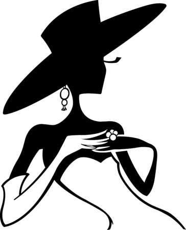 Woman In Hat Silhouette at GetDrawings.com.