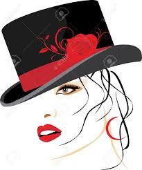 32 Best lady with big hat images.