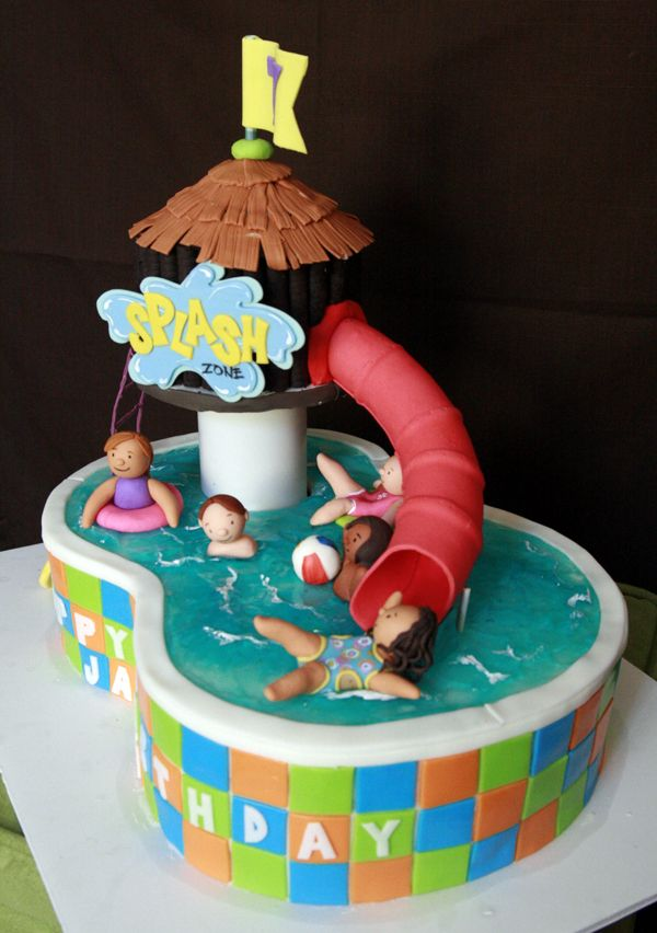 Water Slide Birthday Cakes cakepins.com in 2019.