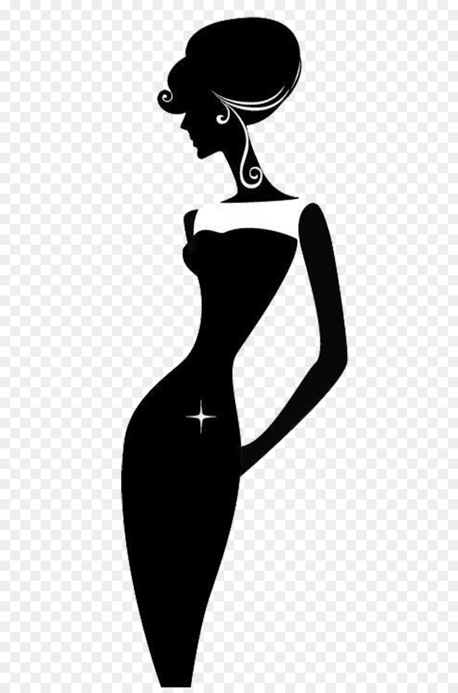 Woman Black And White Png Free & Free Woman Black And White.
