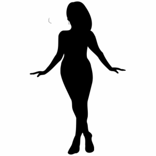 Black Woman Silhouette PNG Images.