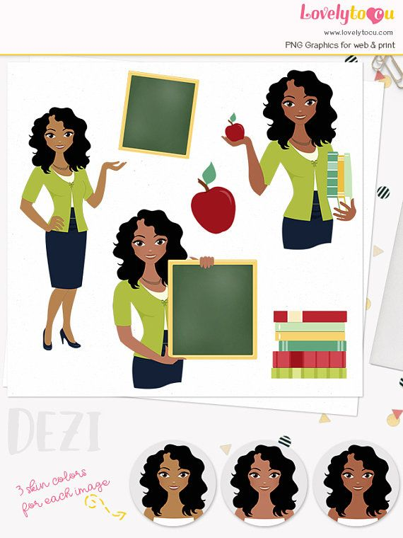 Download Free png Woman teacher character clipart, teaching.