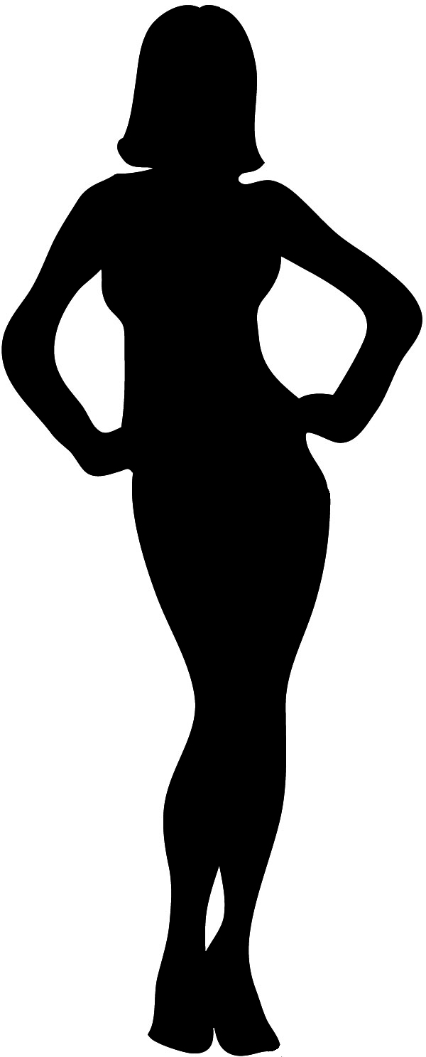 female body outline clipart #8