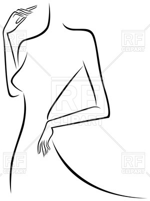 Woman Body Clipart.