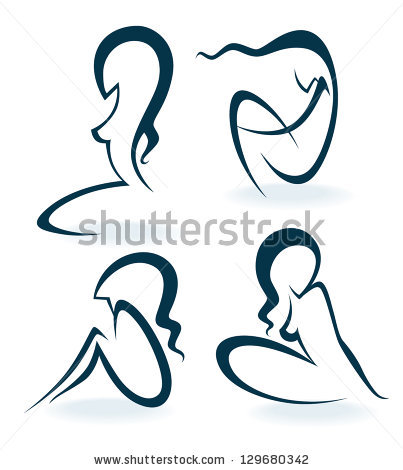 woman body outline clipart - Clipground
