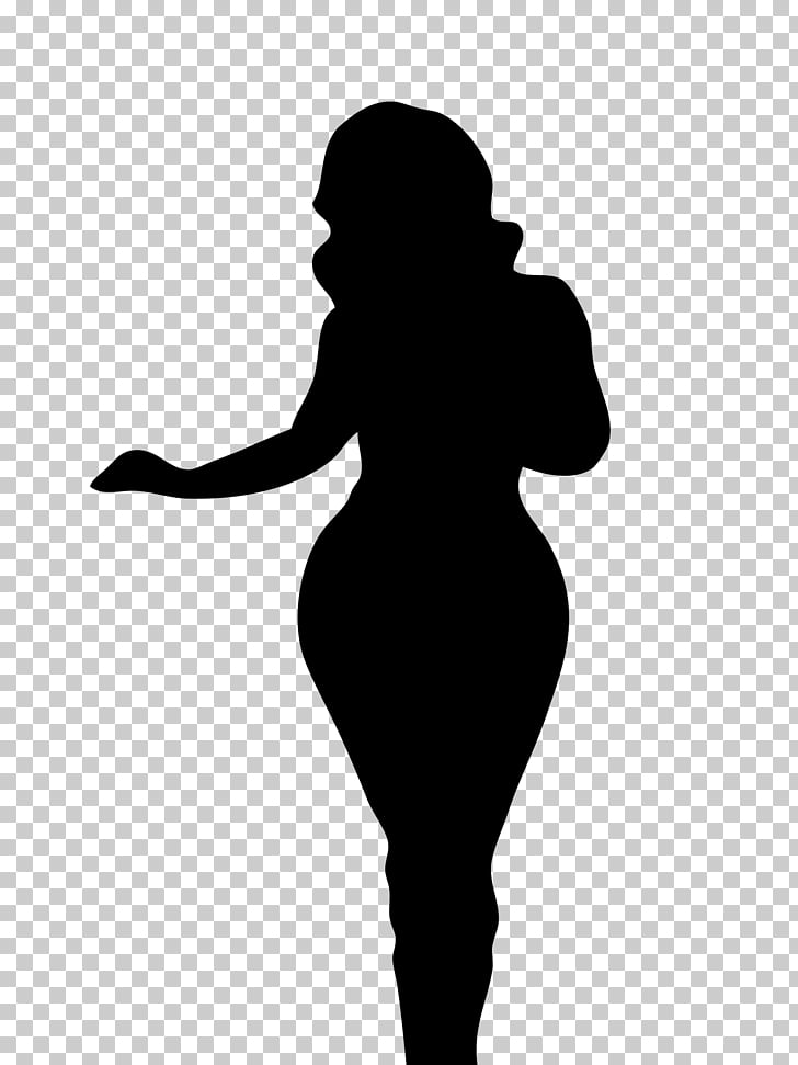 Silhouette Woman Female body shape Human body, Silhouette.
