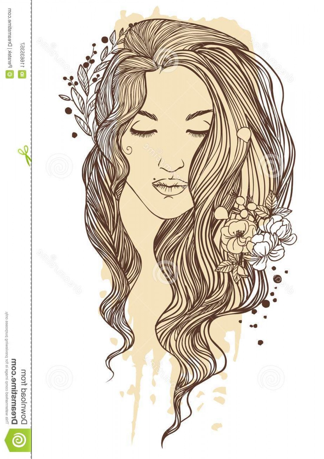Woman boho curlygirls clipart Transparent pictures on F.