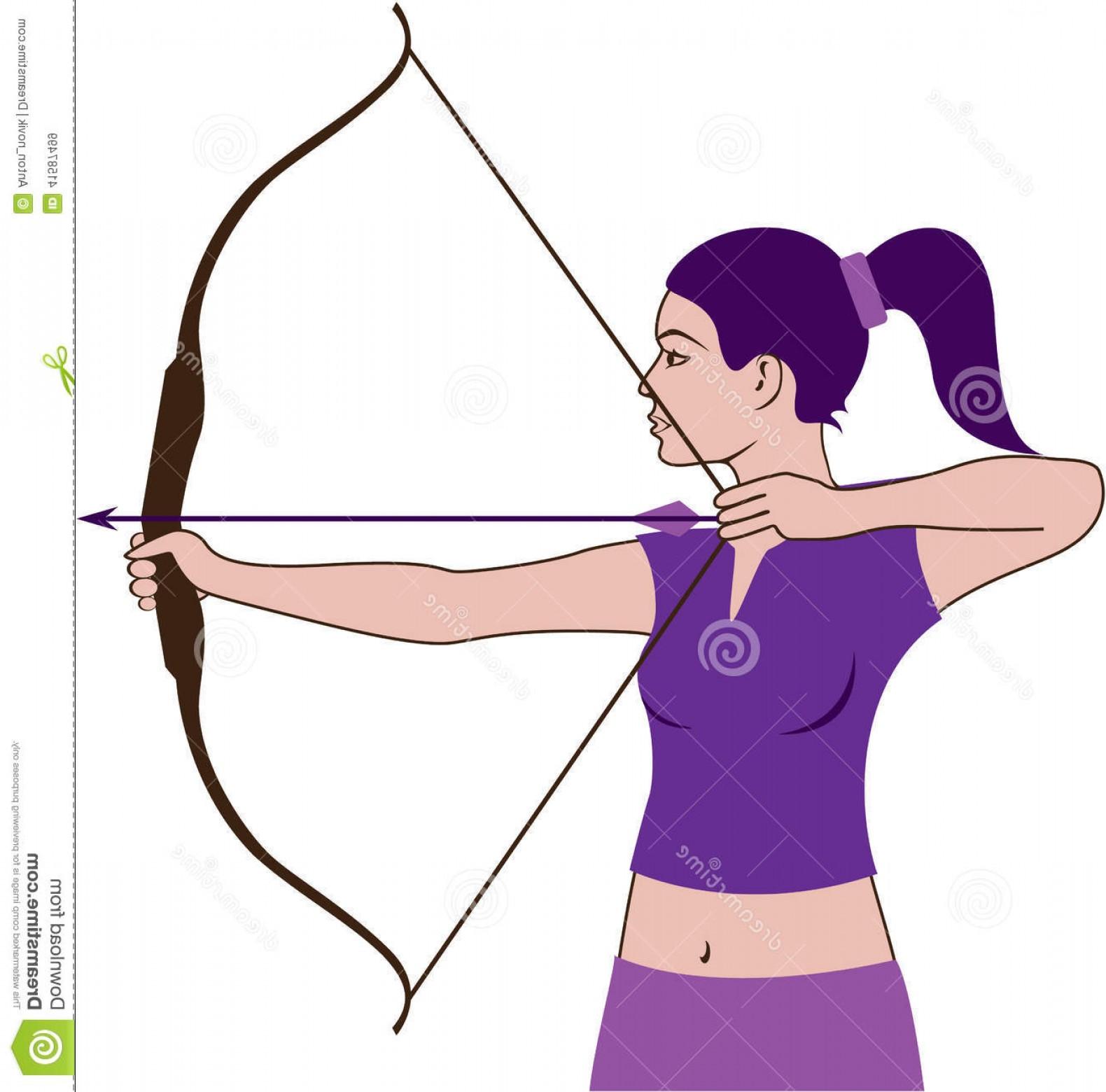 Girl Archery Clipart.