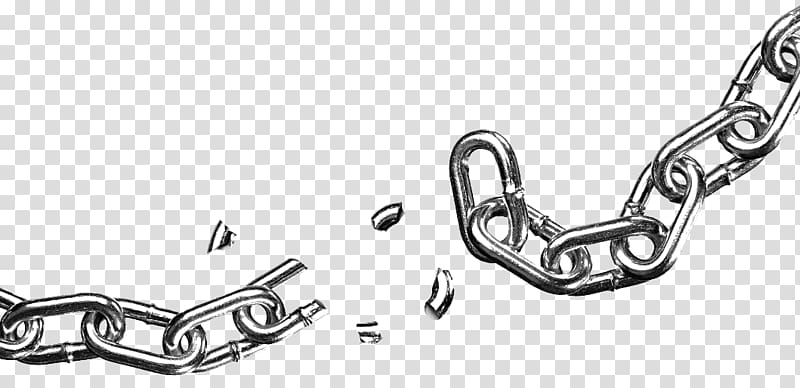 Break gray chain link, Icon, Broken Chain transparent.