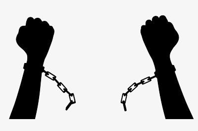 668 Handcuffs free clipart.