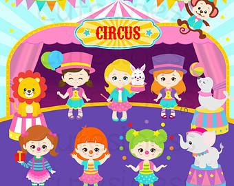 Clipart circus woman.