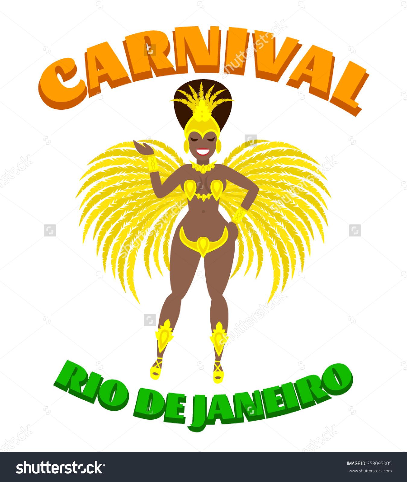 Brazilian carnival girl clipart.