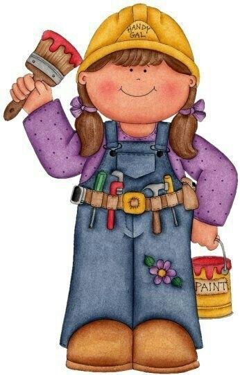 Carpenter clipart female carpenter, Carpenter female.