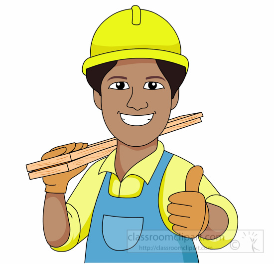 Carpenter clipart contractor, Carpenter contractor.
