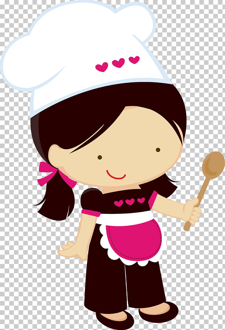 Chef Girl Woman Cooking , chef, female chef illustration PNG.