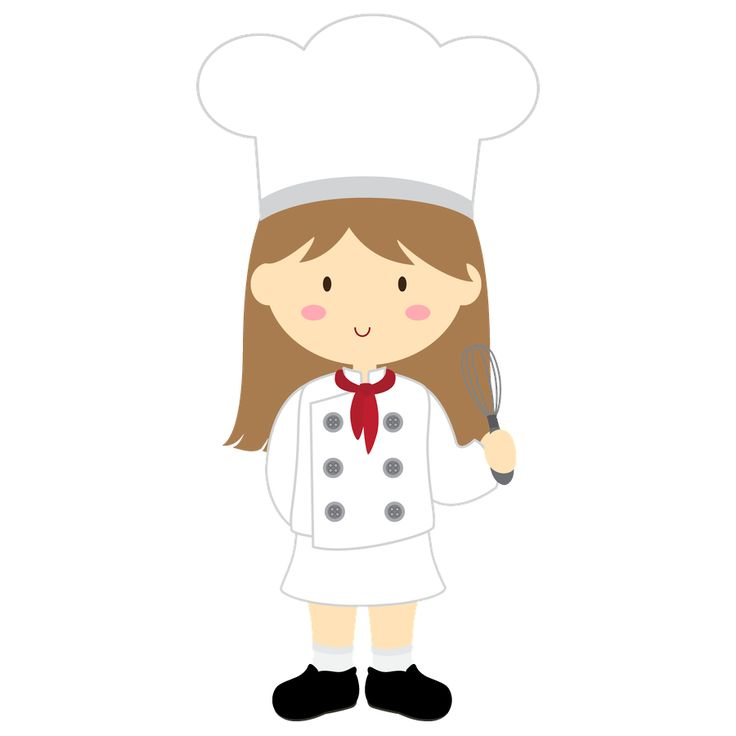 Chef Girl Clipart.