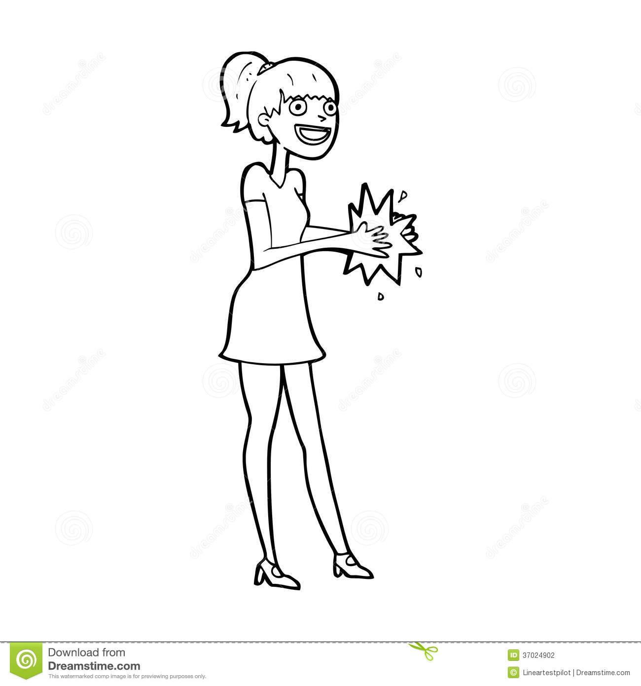 Woman Clapping Clipart