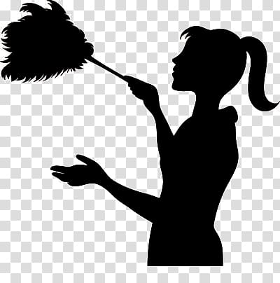 Woman cleaning silhouette , Maid service Cleaner Domestic.