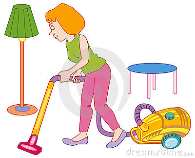 Woman Making House Cleaning Royalty Free Stock Photos.