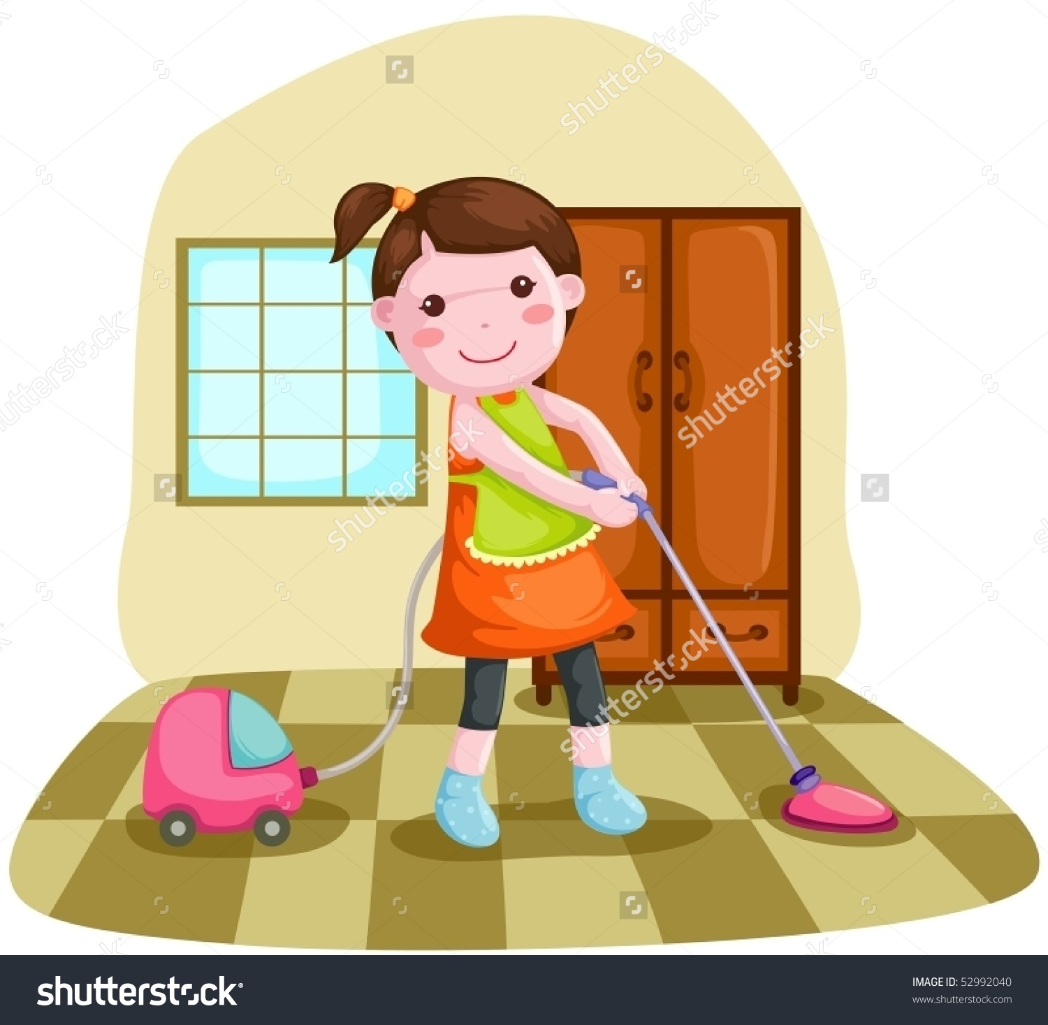 Showing post & media for Cartoon woman cleaning house doing.