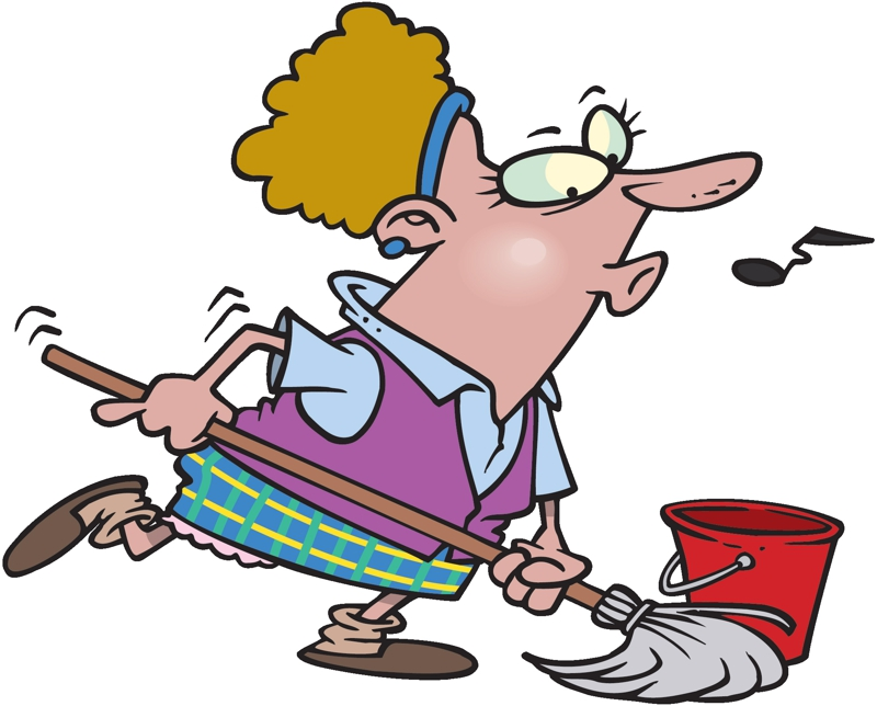 Picture Of A Cleaning Lady.