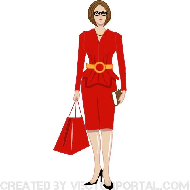 Woman lady in red clip art free vector freevectors.
