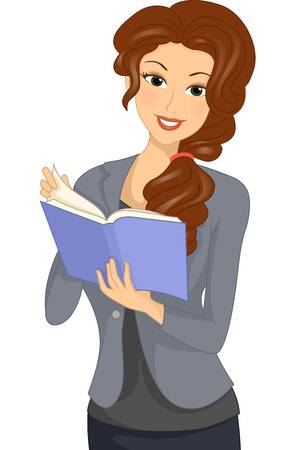 8,423 Woman Reading Book Stock Illustrations, Cliparts And Royalty.