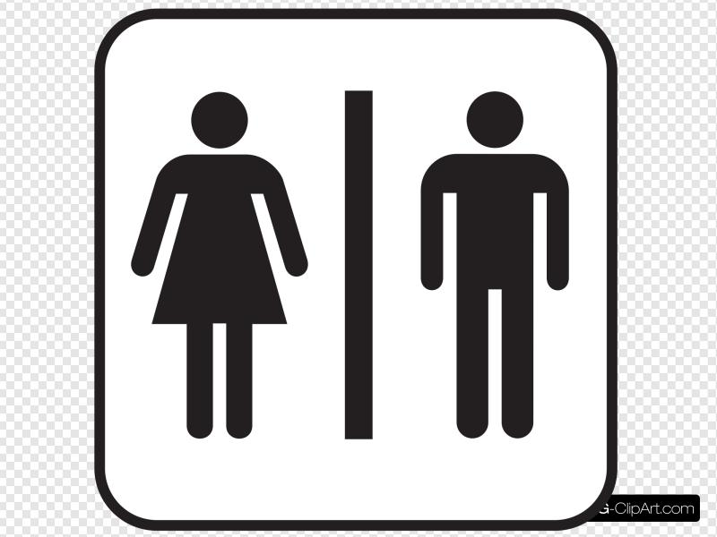 Large Man Woman Bathroom Sign Clip art, Icon and SVG.