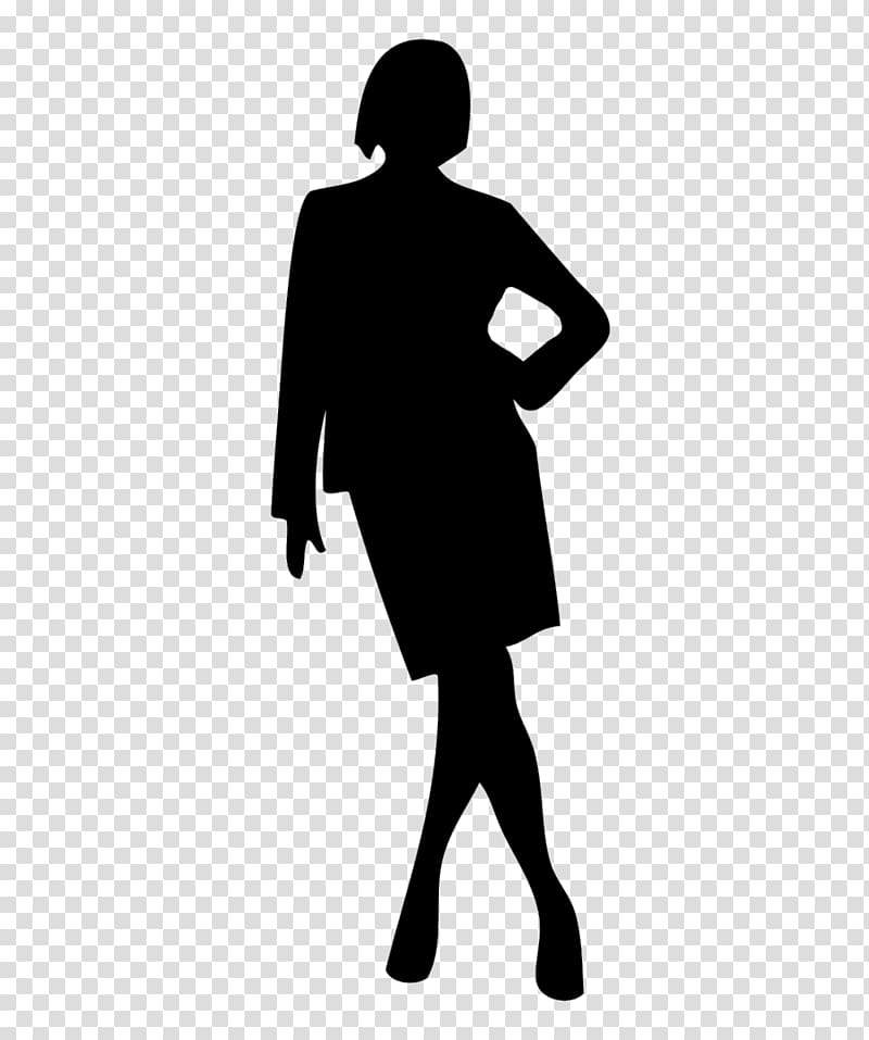 Woman Silhouette Businessperson, invisible woman transparent.