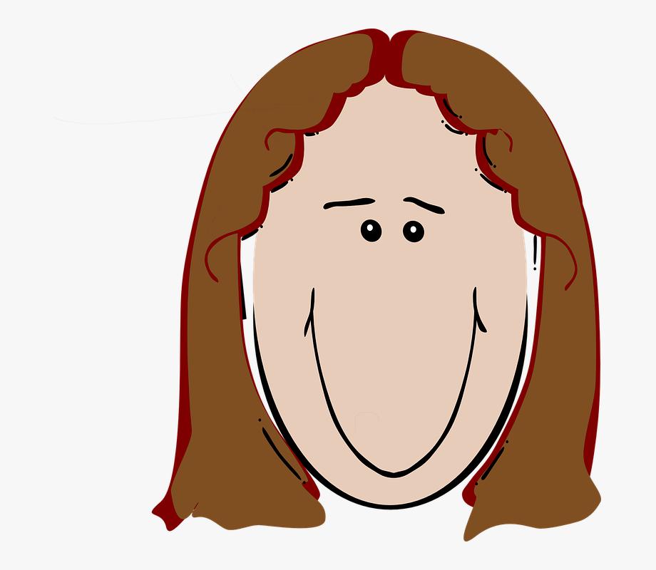 Women Clipart Brown Hair.