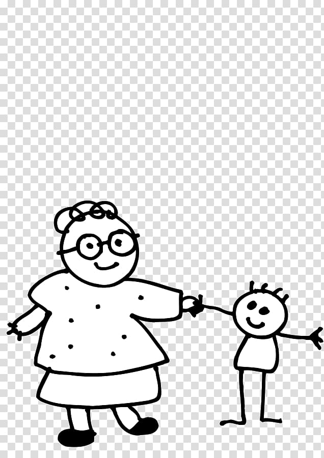 Joke grandmother Woman Drawing, Hand Outline transparent.