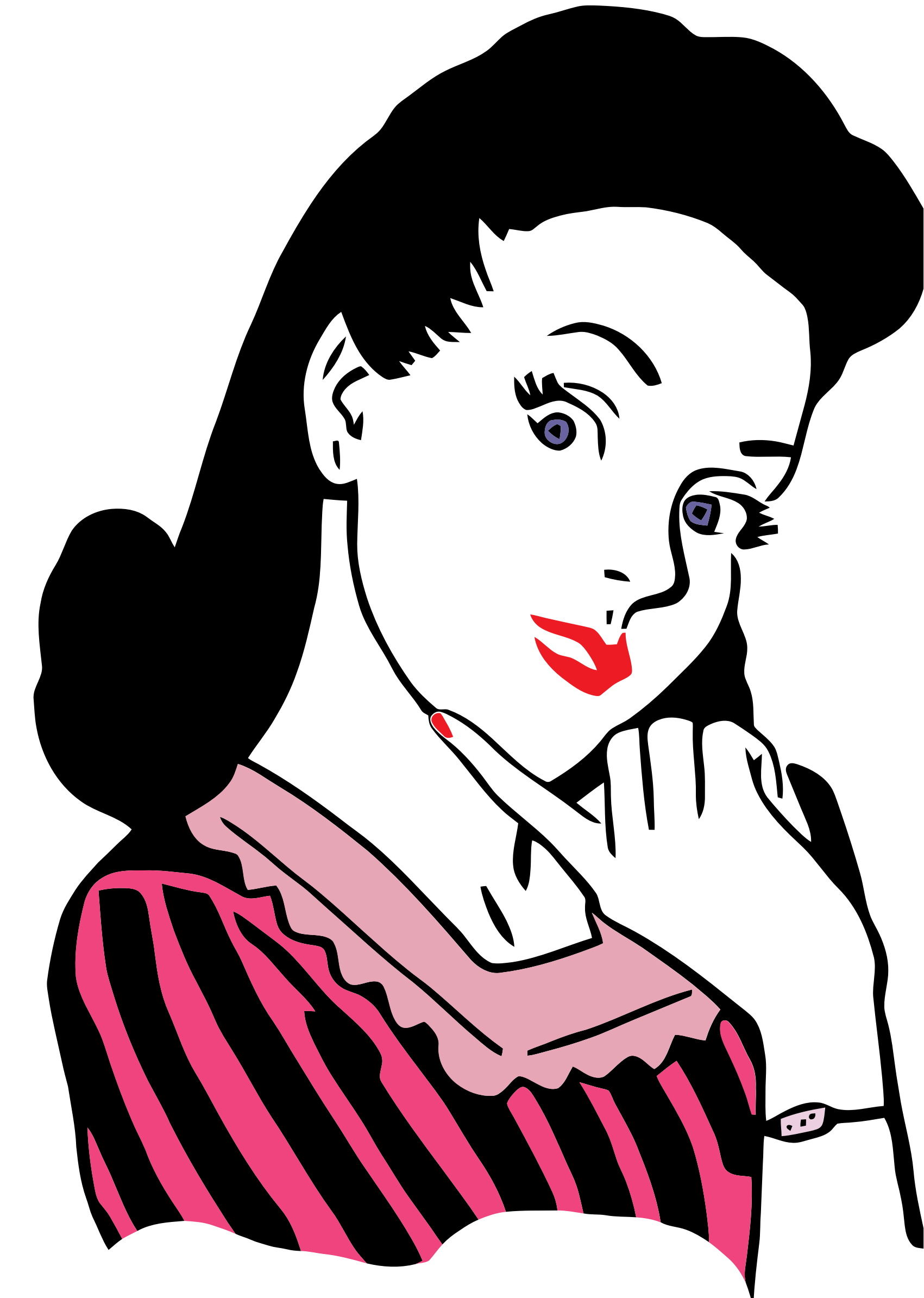 Png Girl Thinking Clipart.