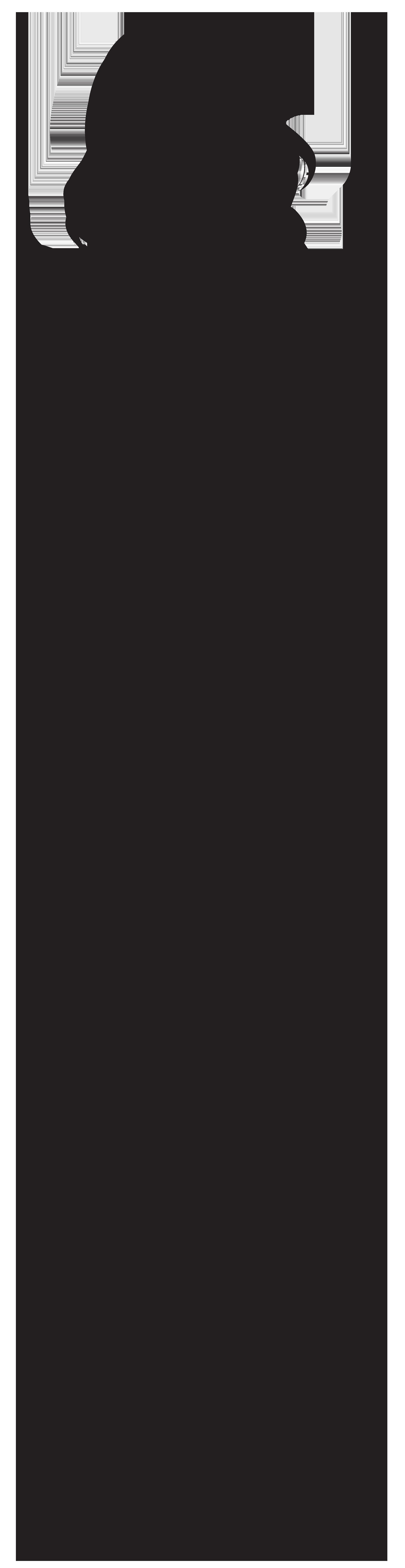Woman Silhouette PNG Clip Art Image.
