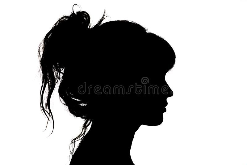 Silhouette Of Beautiful Profile Of Woman Face Concept Beauty.