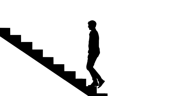 Walking Up Stairs Silhouette at GetDrawings.com.