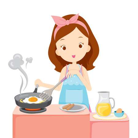 11,790 Woman Cooking Stock Illustrations, Cliparts And Royalty Free.