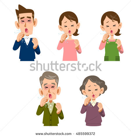 Woman Coughing Stock Images, Royalty.
