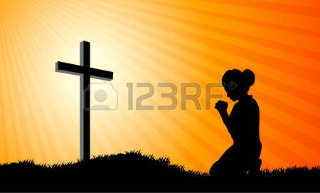 306 Woman Praying Silhouette Cliparts, Stock Vector And Royalty.