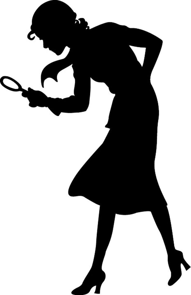 Woman Cross Shadow Clipart.