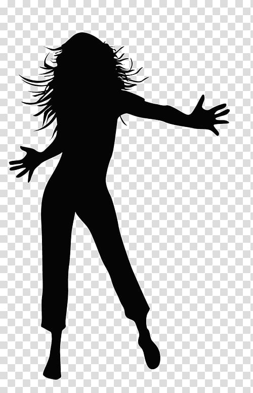 Silhouette of woman illustration, Dance Silhouette Drawing.