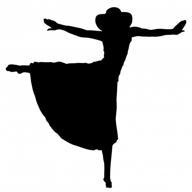 Woman Dancing Silhouette Clipart Free Stock Photo.